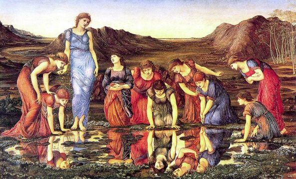 800px-Burne-Jones_Edward_-_The_Mirror_of_Venus_-_1875_-_hi_res1