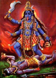 ma kali dancing on lord shiv